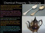 chemical property tarnishing