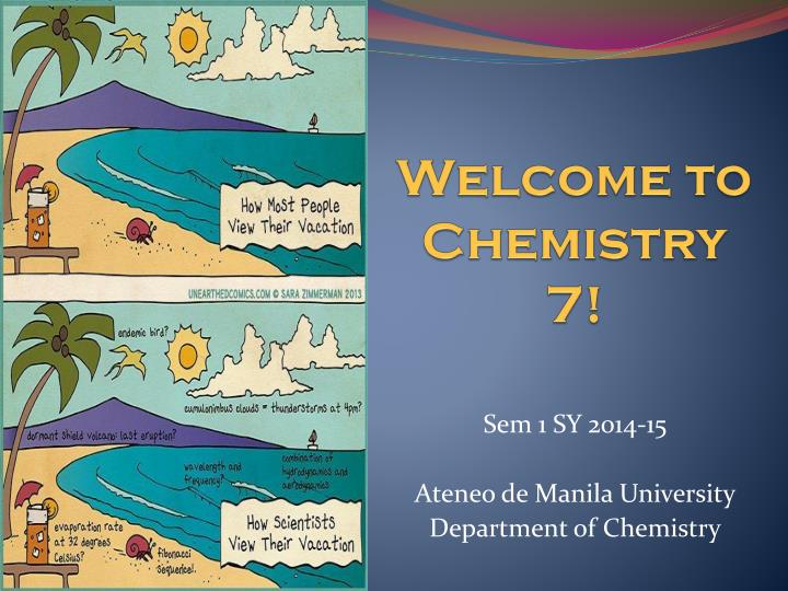 welcome to chemistry 7 n.