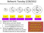 bellwork tuesday 2 28 2012