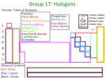 group 17 halogens