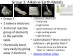 group 2 alkaline earth metals1