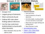 groups 3 12 transition metals1
