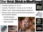 other metals metals in mixed groups1