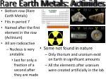 rare earth metals actinides