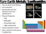 rare earth metals lanthanides