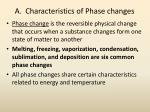 a characteristics of phase changes