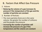b factors that affect gas pressure1