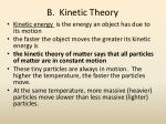 b kinetic theory