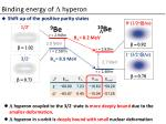 binding energy of l hyperon