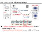 deformation and l binding energy