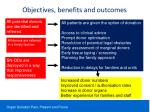 objectives benefits and outcomes