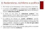 8 redenzione nichilismo e politica