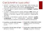 carl schmitt e i suoi critici