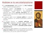 hobbes e la secolarizzazione