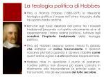 la teologia politica di hobbes