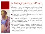 la teologia politica di paolo