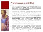 programma e obiettivi