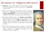 rousseau la religione dell uomo