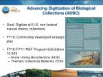advancing digitization of biological collections adbc
