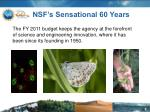 nsf s sensational 60 years