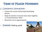 types of muscle movement