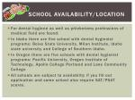 school availability location