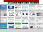 visual road maps of usable information