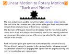 rack and pinion