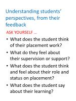 understanding students perspectives from their feedback