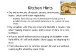 kitchen hints