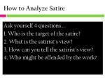 how to analyze satire