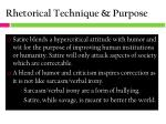 rhetorical technique purpose