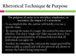 rhetorical technique purpose1