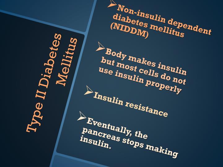 Non-insulin dependent diabetes