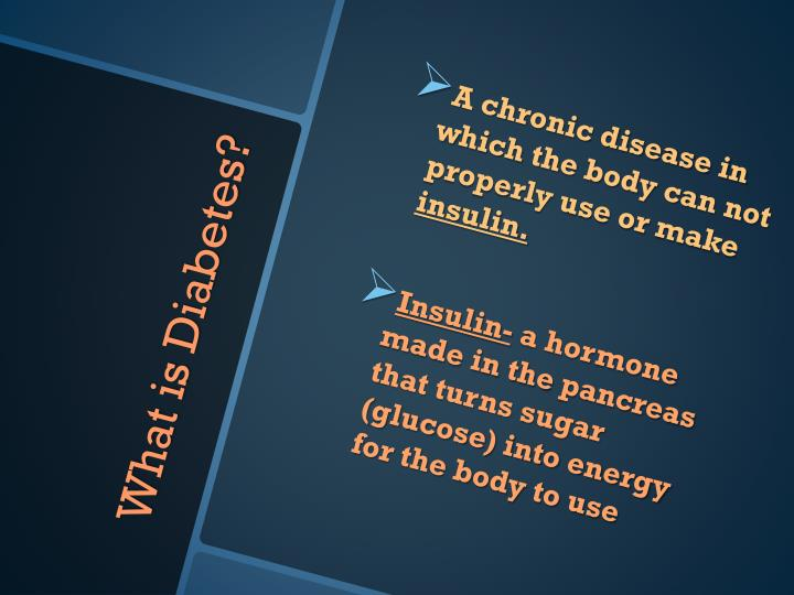 A chronic disease in which the body can not properly use or make