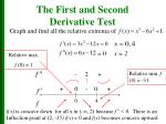 the first and second derivative test