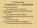 nt conversion 4 acts 9 1 22 5 acts 22 3 16