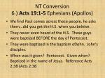 nt conversion 6 acts 19 1 5 ephesians apollos