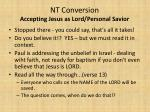 nt conversion accepting jesus as lord personal savior