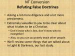 nt conversion refuting false doctrines