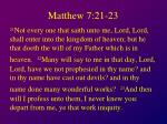 matthew 7 21 23