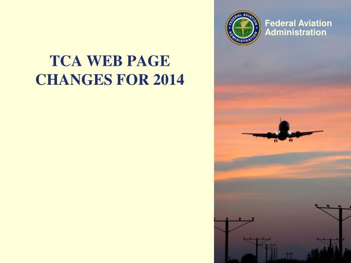 tca web page changes for 2014 n.