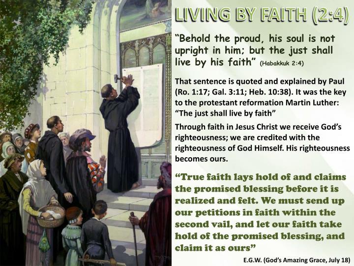 LIVING BY FAITH (2:4)