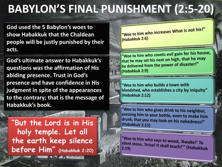BABYLON'S FINAL PUNISHMENT (2:5-20)