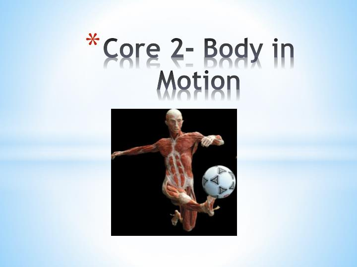 core 2 body in motion n.