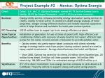 project example 2 mexico optima energia