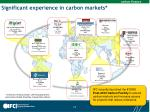 significant experience in carbon markets
