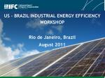 us brazil industrial energy efficiency workshop rio de janeiro brazil august 2011