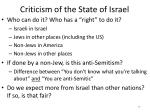 criticism of the state of israel
