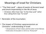 meanings of israel for christians